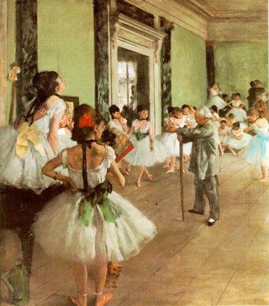 バレエのレッスン(1874年頃、オルセー美術館所蔵)Degas-_La_classe_de_danse_1874.jpg