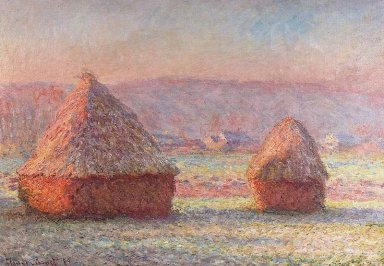 積みわら、霜の朝800px-Claude_Monet_-_White_Frost%2C_Sunrise.jpg