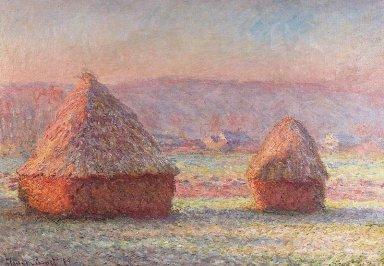 積みわら、霜の朝800px-Claude_Monet_-_White_Frost%2C_Sunrise.jpg